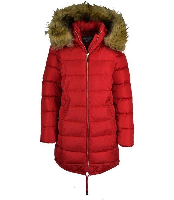 Ciepła pikowana kurtka zimowa a'la parka