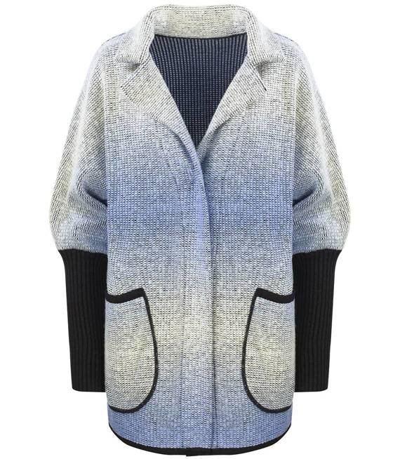 Ciepły kurtka płaszczyk OMBRE sweter