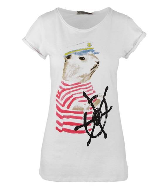 Cudowna bluzka T-Shirt Kapitan foka