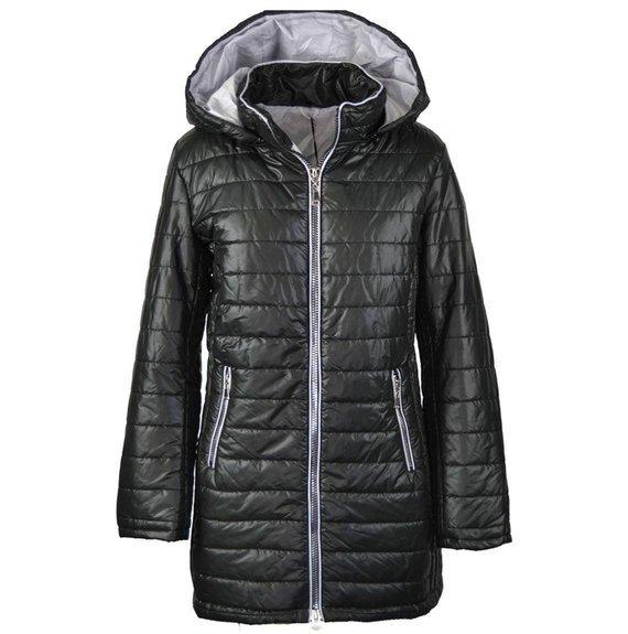 Dłuższa pikowana kurtka przejściowa