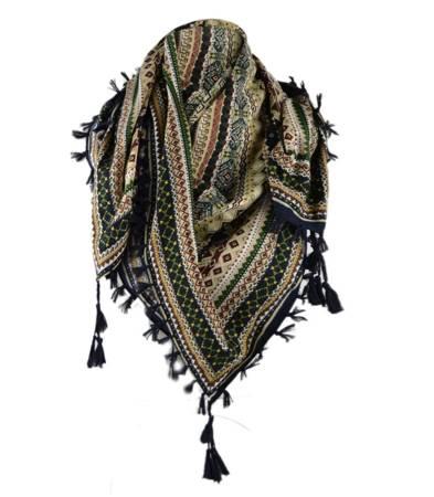 Duża chusta FOLK góralska wzory Żurawie