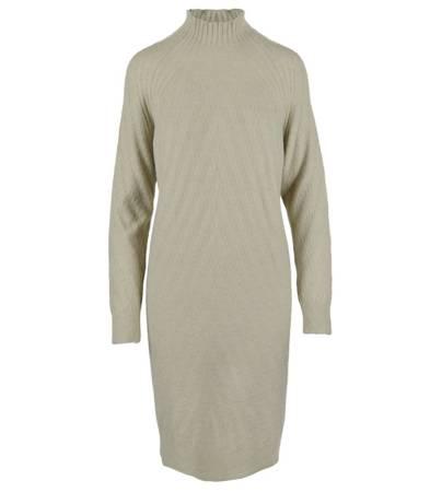 Dzianinowa dłuższa sukienka CASUAL