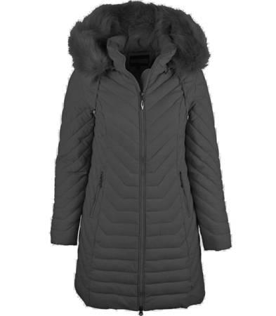 Elegancka dłuższa kurtka płaszczyk ZIMA