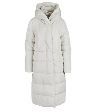Elegancki klasyczny dłuższy płaszcz puchowy