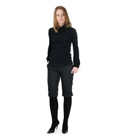 Klasyczne spodnie do kolan bermudy slim