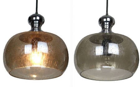 LAMPA SUFITOWA LUX KULA SZKŁO I METAL
