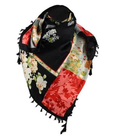 Piękna barwna chusta w kwiaty FOLK style