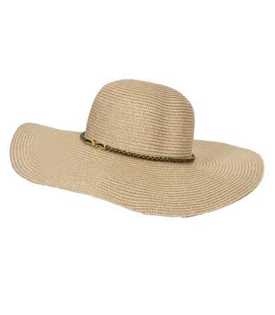 Piękny metaliczny kapelusz duże rondo LATO