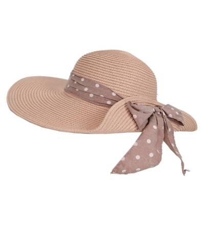 Stylowy kapelusz plażowy z kokardą