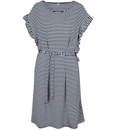 Sukienka w paski marynarski styl FALBANKI