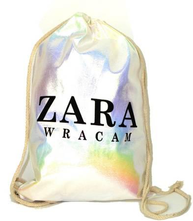 Super hologramowy worek plecak gam shine