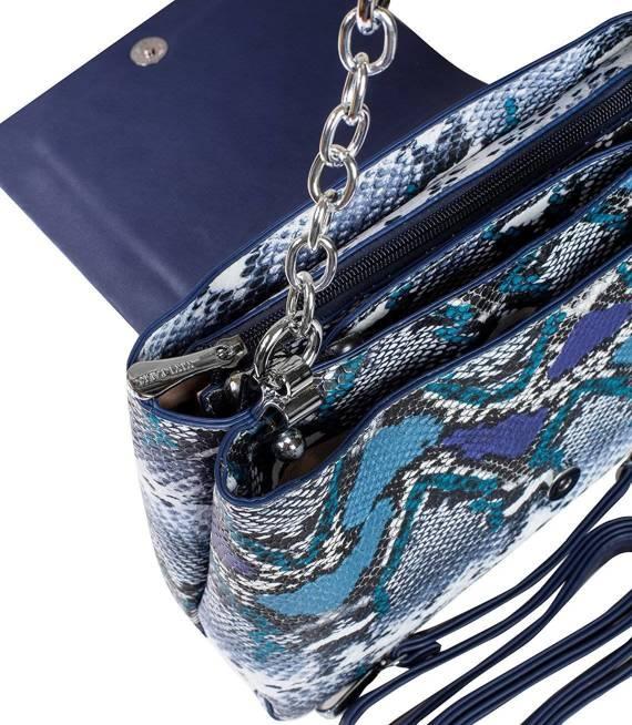 Wężowa elegancka Torebka kopertowa torba